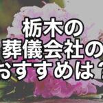 【教えて!】栃木県内で葬儀を執り行うには、どの会社がおすすめ?